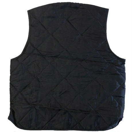 Quilted Nylon Vest  BLACK キルティングベスト  MADE IN USA DEAD STOCK