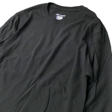 CHAMPION 5.2oz L/S TEE BLACK チャンピオン 長袖Tシャツ ブラック