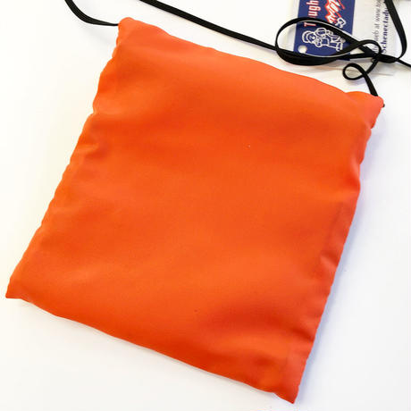 Tough Traveler / LARGE POUCH WITH MESHPOCKET   ORANGE  タフトラベラー ポーチ サコッシュ  オレンジ MADE IN USA