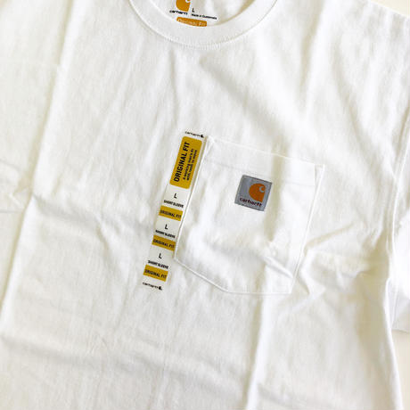 CARHARTT / WORKWEAR POCKET TEE  WHITE  カーハート Tシャツ