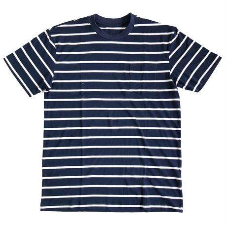 Striped Pocket Tee NAVY ボーダーTシャツ