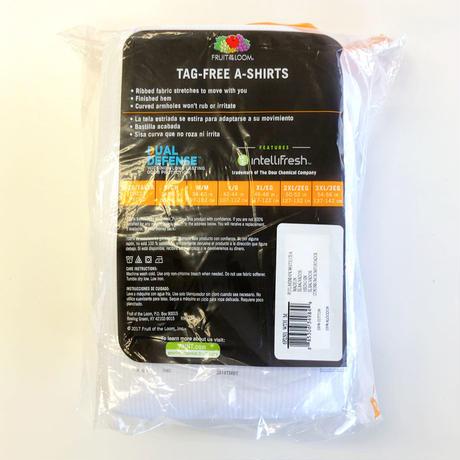 Fruit of the Loom 6Pack A-Shirts White フルーツオブザルーム タンクトップ  6枚パック