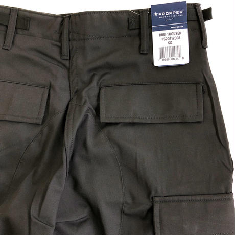 PROPPER  BDU TROUSER S/Sサイズ 60/40 COTTON/POLY TWILL button fly プロッパー  ノンリップ コットンポリ  カーゴパンツ ブラック