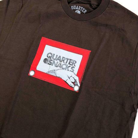 QUARTER SNACKS Sketch Tee BROWN クォータースナックス Tシャツ