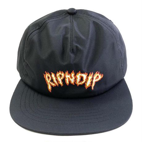 RIPNDIP / INFERNO SNAPBACK   BLACK キャップ スナップバック リップンディップ