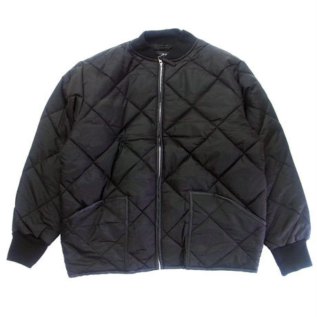 ROTHCO Diamond Nylon Quilted Flight Jacket BLACK ロスコ キルティングジャケット
