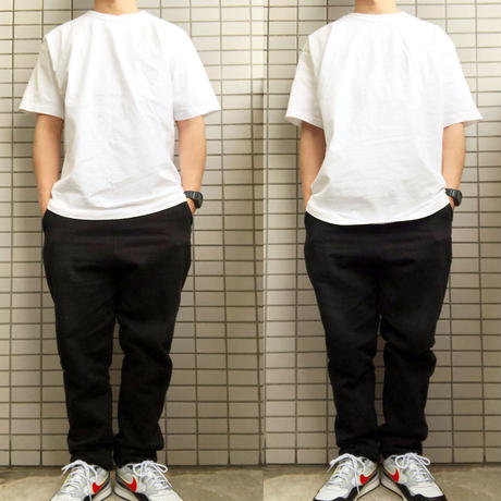 LOS ANGELES APPAREL 8.5oz Garment Dye S/S TEE BLACK ロサンゼルス アパレル 後染め Tシャツ  MADE IN USA