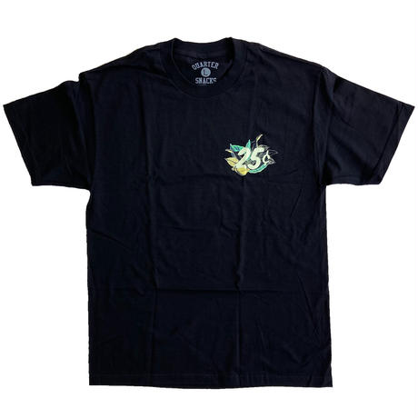 QUARTER SNACKS Botanical Snackman Tee  Black クォータースナックス Tシャツ
