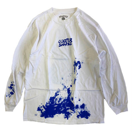 QUARTER SNACKS  Splatter Longsleeve Tee WHITE クォータースナックス 長袖Tシャツ