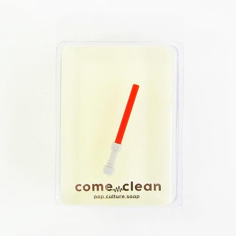 COME CLEAN(カムクリーン)LIGHTSABER RED 石鹸 ライトセーバー STARWARS