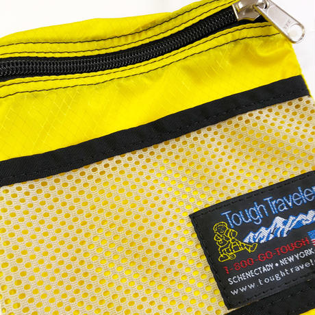 Tough Traveler / LARGE POUCH WITH MESHPOCKET  YELLOW  サコッシュ ショルダーバッグ ポーチ
