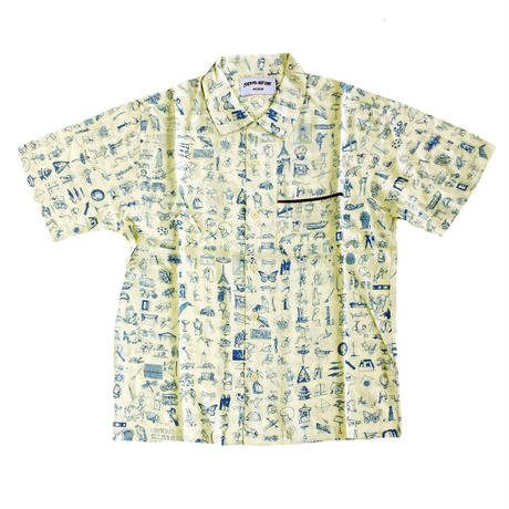 FUCKING AWESOME / Dictionary Cabana Button Down S/S SHIRT YELLOW オープンカラー半袖シャツ ファッキンオーサム