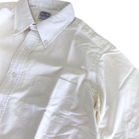 THE BAGGY  OXFORD S/S BD SHIRTS  WHITE バギー オックスフォード ボタンダウン 半袖 シャツ OXBD