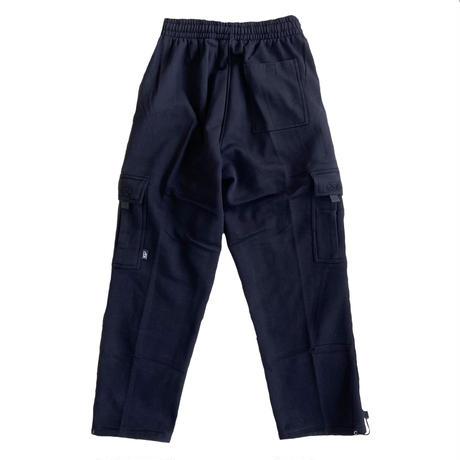 PRO5 Heavy Fleece Cargo Pants Loose Fit  BLACK プロファイブ スウェットパンツ スウェットカーゴパンツ ルーズフィット