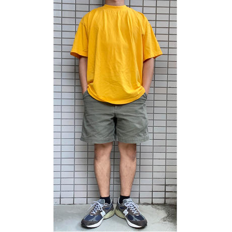 LOS ANGELES APPAREL 6.5oz Garment Dye CREW S/S TEE  GOLD ロサンゼルスアパレル Tシャツ