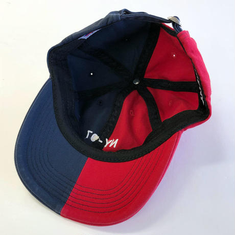 ONLY NY NAUTICAL SPLIT POLO HAT  navy/red オンリーニューヨーク キャップ