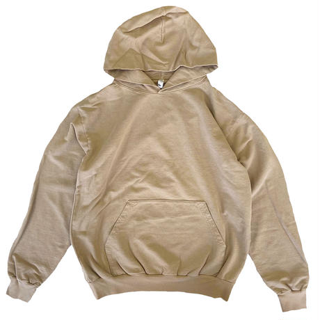 LOS ANGELES APPAREL  Garment Dye French Terry Pullover Hoodie Sand  ロサンゼルスアパレル 後染め フーディ スウェットパーカー