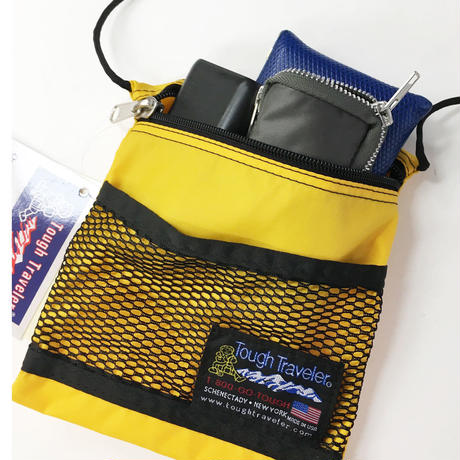 Tough Traveler / LARGE POUCH WITH MESHPOCKET ROYAL タフトラベラー メッシュポーチ