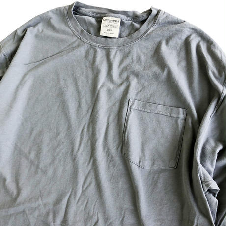 COMFORT WASH BY HANES / Ringspun Cotton Garment-Dyed TEE 長袖Tシャツ ヘインズ CONCREATE 後染め