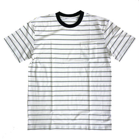 Striped Pocket Tee WHITE ボーダーTシャツ