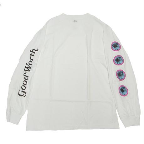 GOOD WORTH  BABE L/S TEE WHITE グッドワース 長袖Tシャツ