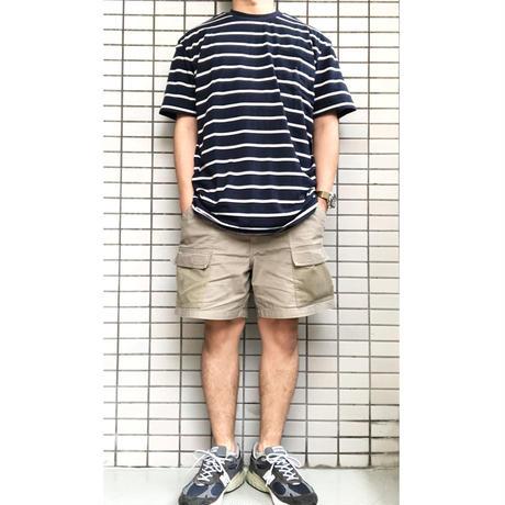 OG BLANK Striped Pocket Tee NAVY ボーダーTシャツ