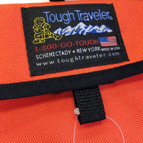 Tough Traveler / FLAP NECK POUCH MOD S Orange タフトラベラー サコッシュ ポーチ USA