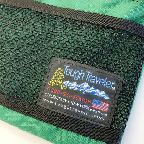 Tough Traveler / LARGE POUCH WITH MESHPOCKET  GREEN タフトラベラー ポーチ サコッシュ