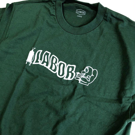 LABOR /  Labor Zorched Tee Forest Green