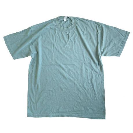 LOS ANGELES APPAREL 6.5oz Garment Dye CREW S/S TEE ATLANTIC GREEN  ロサンゼルスアパレル Tシャツ MADE IN USA