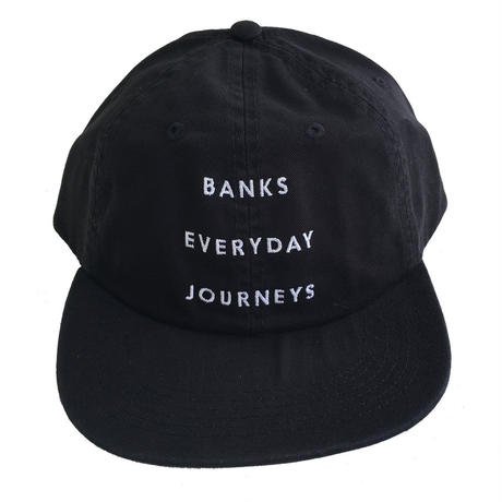 BANKS / EVERYDAY JOURNEYS CAP BLACK バンクス キャップ