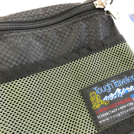Tough Traveler / LARGE POUCH WITH MESHPOCKET  BLACK タフトラベラー サコッシュ