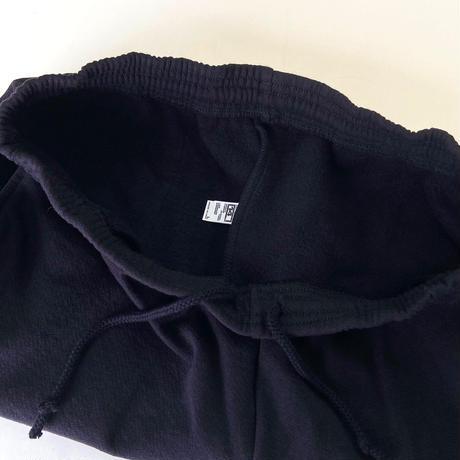 LOS ANGELES APPAREL 14oz Heavy Fleece Mid Short BLACK ロサンゼルスアパレル スウェットショーツ ショートパンツ