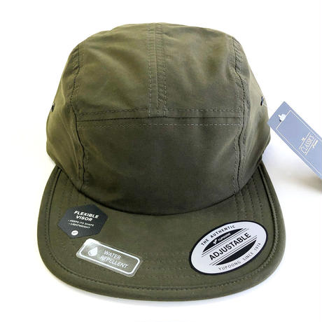 FLEXFIT 5panel CAP OLIVE キャップ  コットンナイロン