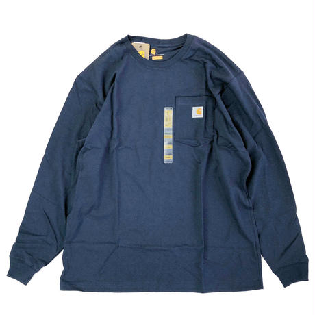 CARHARTT /  L/S WORKWEAR POCKET TEE   NAVY カーハート 長袖Tシャツ