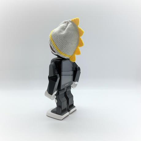 恐竜帽イエロー×ペールグレー[T20]