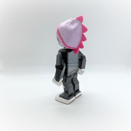 恐竜帽ローズピンク×パープル[T20]