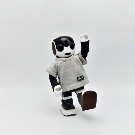 ROBO-UNI【ロボホン公式ライセンス商品】ロボホンニットTシャツ ライトグレー(ONLYROBO限定カラー)