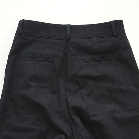 black linen wide pants (119-3243)