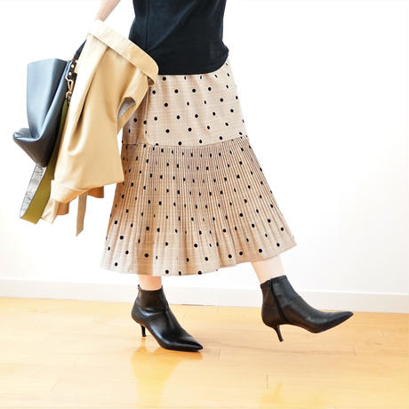dot×check skirt(119-3327)