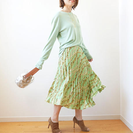 printed skirt(119-3242)