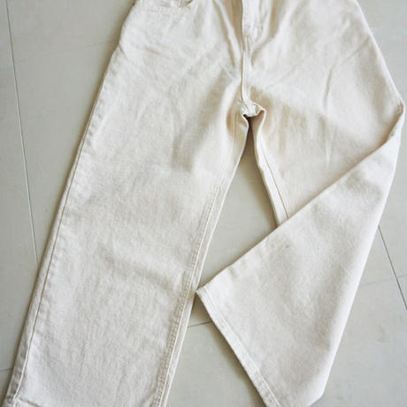 beige denim pants(119-3245)