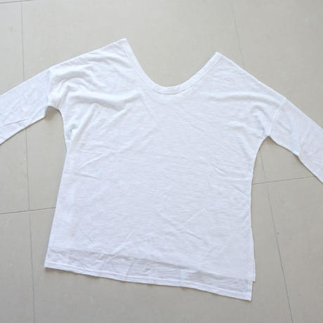 slub fabric T-shirt (119-1240)