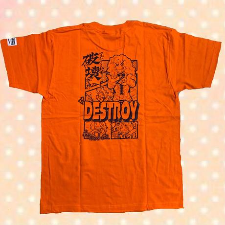 「漫画風デストロイ」Tee / orange