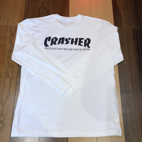 ROCKSTAR HOUSE  Original  CRASHER LT/S WHITE