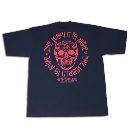 T.W.I.M (THE WORLD IS MINE) & ROOM THE RANSACK Double Name LIVE OR DIE T-Shirts (RV016)