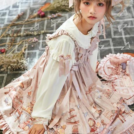 HONEY HONEY LOLITA-  Annie'sBreakfast アニーの朝食 ジャンパースカート·ピンク