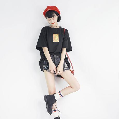 CupidJokerーオーバーサイズ「一夜爆富」護符Tシャツ