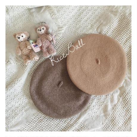 RICEBALL・クッキーベレー帽