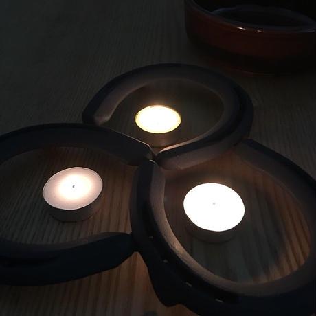 蹄鉄トリベット    耐熱塗装  【35501】